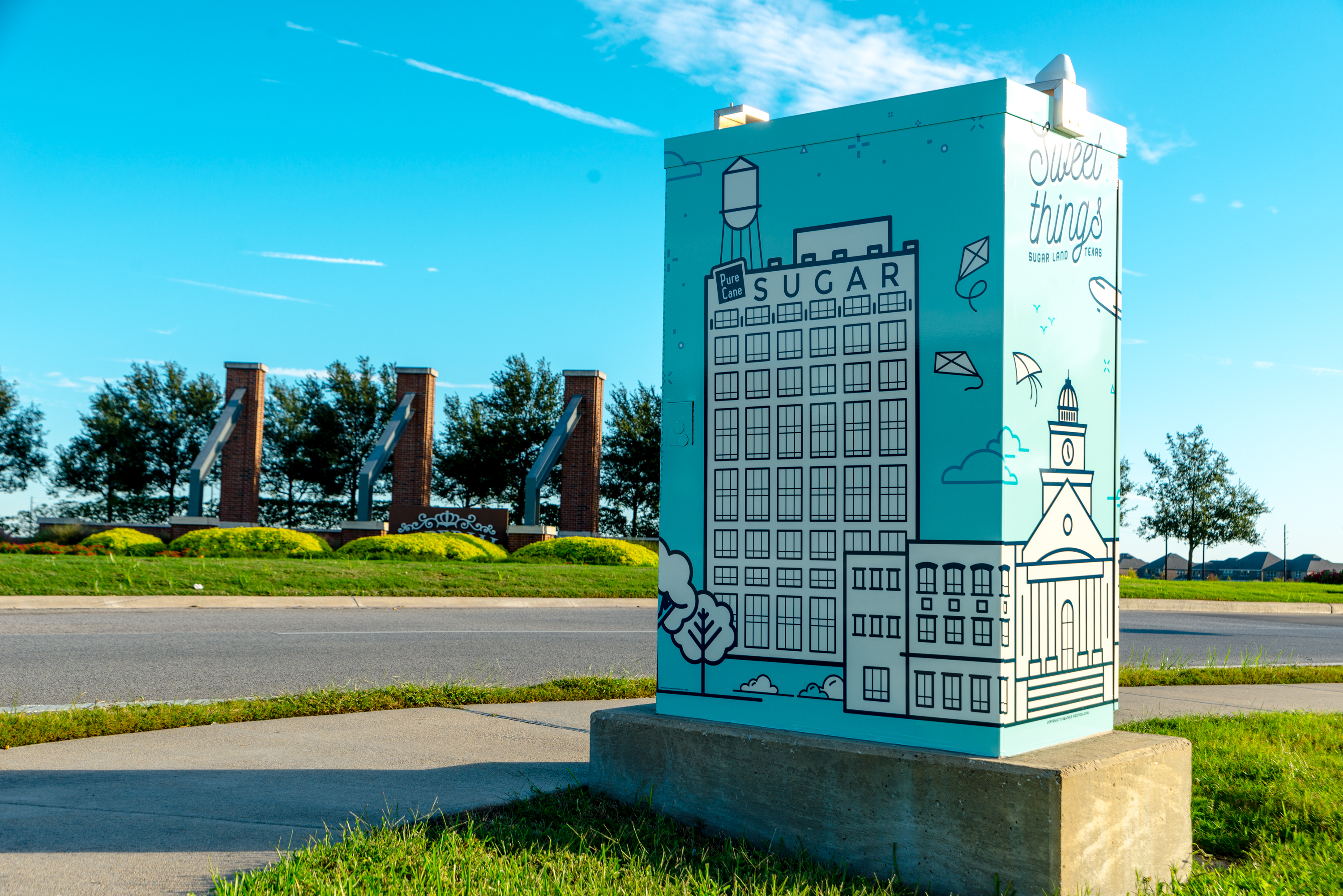 Sugar Land Traffic Box Public Art